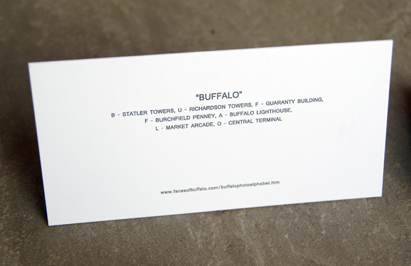 Buffalo Alphabet Holiday Cards
